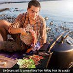 Tapis de cuisson , Ubegood Set de 3 Tapis 40*33 cm Nettoyage facile réutilisable Feuilles de BBQ pour Barbecue et Four - 100% Anti-adhérent de la marque Ubegood image 4 produit