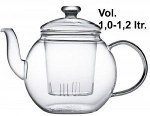 Teaposy récolte Théière avec filtre en verre et couvercle en verre 1,2 L verre Borosilicate résistant à la chaleur, Passe au lave-vaisselle, idéal pour les feuilles de thé en vrac de la marque Teaposy image 0 produit