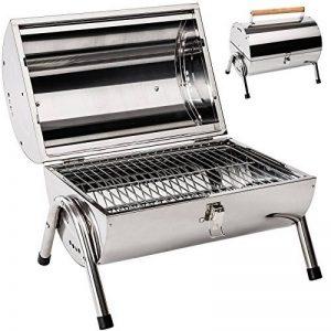 TecTake Barbecue grill charbon de bois portable double plaque grill acier inoxydable argenté de la marque TecTake image 0 produit