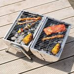 TecTake Barbecue grill charbon de bois portable double plaque grill acier inoxydable argenté de la marque TecTake image 2 produit