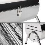 TecTake Barbecue grill charbon de bois portable double plaque grill acier inoxydable argenté de la marque TecTake image 5 produit