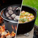 TecTake® Lot de 7 pièces poêle casserole en fonte de la marque TecTake image 1 produit