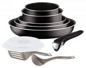 Tefal L2009802 Set de poêles et casseroles - Ingenio 5 Essential Noir Set 10 Pièces - Tous feux sauf induction de la marque Tefal image 0 produit