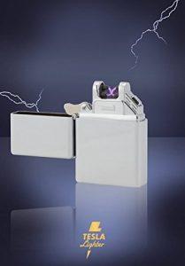 Tesla-Lighter T07 allume-feu électrique USB électrique briquet briquet briquet briquet BBQ rechargeable électronique - pas de gaz ou d'essence - vert avec câble de chargement dans un emballage cadeau noble de la marque TESLA Lighter image 0 produit