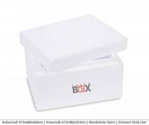THERM-BOX Profi Box S 31x 25,0x 18,5cm, parois: 3cm, V = 5,93L, boîte en polystyrène Boîte isotherme glacière Box Petite boîte de maintien au chaud Blanc de la marque THERM-BOX image 0 produit