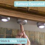 TINKSKY Lampes Spots LED Autocollants à Piles 6pcs piles cliquez sur 3-LED lampe (lumière blanche) de la marque Tinksky image 3 produit