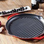 Tivoli / BBQ / Grill / Grilles en fonte pour l'induction / diamètre de 32 cm / Pour des résultats parfaits de grillade / émaillée extérieur de la marque Tivoli image 3 produit