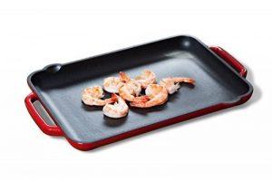 Tivoli / BBQ Grill / Plancha / Rectangulaire / Rouge / 32,5 x 22 cm / Convient pour tous les types de cuisson/ grill en fonte pour induction / émaillée extérieur de la marque Tivoli image 0 produit