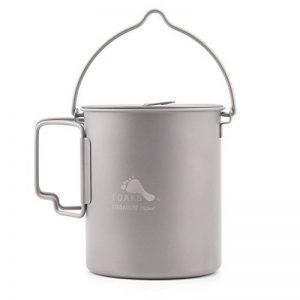 Toaks Pot-750-bh Titanium Pot marmites pour camping pique-nique Pot à suspendre ultraléger Pot de titane 750ml de la marque TOAKS image 0 produit