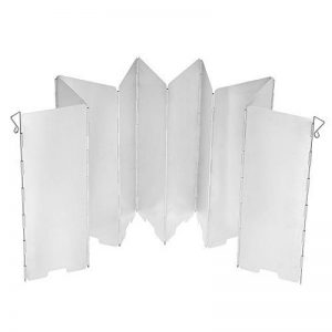 TOMSHOO Pare-vent Pliable en Alliage d'Aluminium Portable Ultra-légers avec 8 / 10 Plaques Pare-brise pour Réchaud de Camping Pique-nique de la marque TOMSHOO image 0 produit