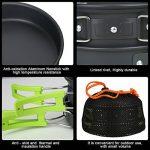 TOPQSC Kit de Casseroles et Poëles Antiadhésive Kit de Cuisinières de Camping Équipement de Randonnée et de Cuisson en Plein Air Équipement de Cuisson Ultralight de la marque TOPQSC image 5 produit