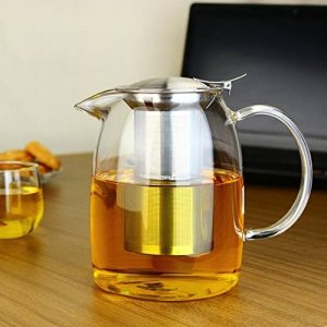 TOYO HOFU Théière en verre transparente avec infuseur amovible - 1100 ml de la marque TOYO HOFU image 0 produit