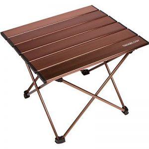 Trek Camping Portable Technology de table avec plateau de table pliante en aluminium, avec housse, pour pique-nique, camping, plage, utile pour repas, couper, cuisson, facile à nettoyer de la marque Trekology image 0 produit