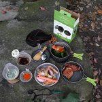 TTLIFE 12 Sets Casseroles et Poëles Antiadhésive avec Pière à Feu Survie--Sets de Camping en Aluminium-- L'Ensembles Popotes Facile à Transporter pour 1-3 Personnes Ustensiles de Cuisine pour Camping/Pique-nique/BBQ/Randonnée/Pédestre/Excursion (A) de la image 6 produit