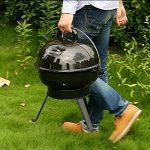 TY&WJ Barbecues à charbon,Portable Repas en plein air Bbq Pour Camping Randonnée Barbecues Outil-noir 44x44x51cm(17x17x20inch) de la marque TY&WJ image 1 produit
