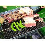 TY&WJ Plein Air Portable Barbecues à Charbon, Acier Inoxydable Pliable Grill Maison Jardin Repas En Plein Air Bbq Pour Camping Randonnée Parti Barbecues Outil 43x43x27cm(17x17x11inch) de la marque TY&WJ image 2 produit