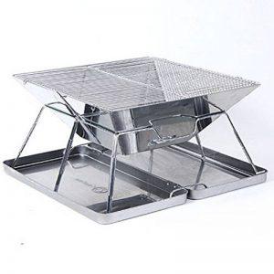 TY&WJ Plein Air Portable Barbecues à Charbon, Acier Inoxydable Pliable Grill Maison Jardin Repas En Plein Air Bbq Pour Camping Randonnée Parti Barbecues Outil 43x43x27cm(17x17x11inch) de la marque TY&WJ image 0 produit