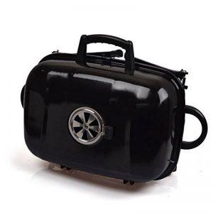 TY&WJ Plein air Portable Barbecues à charbon,Double couche Grill Repas en plein air Bbq Pour Camping Randonnée Barbecues-noir 52x34x38cm(20x13x15inch) de la marque TY&WJ image 0 produit