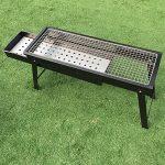 TY&WJ tiroirs Portable Barbecues à charbon,Maison jardin Barbecues Repas en plein air Bbq Pour Camping Randonnée Grill-noir 60x23cm(24x9inch) de la marque TY&WJ image 1 produit
