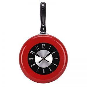 UQ Horloge murale Cuisine Poêle Diamètre 26cm Rouge de la marque UNIQUEBELLA image 0 produit