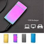 USB Electrique Briquet,Rechargeable Cigarette Briquet Double Arc Electrique Briquet sans Flamme Anti Vent pour de la marque Green Grass image 2 produit