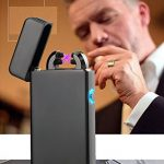 USB Electrique Briquet,Rechargeable Cigarette Briquet Double Arc Electrique Briquet sans Flamme Anti Vent pour de la marque Green Grass image 4 produit