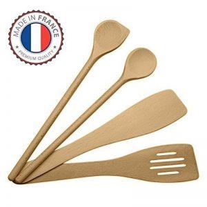 ustensiles de cuisine en bois set, ensemble complet, spatules en hêtre, Made in EU, 1 grande cuillère à sauce de 30cm, 1 spatule mortaise 30cm, 1 spatule biseautée 30cm, 1 maryse a pâtisserie de la marque Miamm image 0 produit