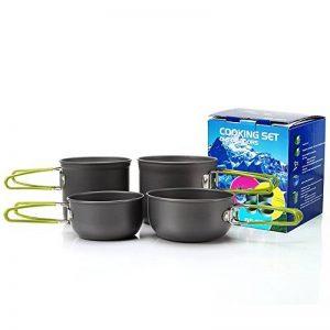 Ustensiles de cuisine portatifs pour camping, outils de cuisine pliante en plein air pour le pique-nique, la pêche, la randonnée de la marque Spotact image 0 produit
