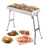 Uten Barbecue Pique nique Portable Barbecue à Charbon avec BBQ Grille en Acier BBQ Pliable Barbecue Camping/Extérieur Jardin(Large) de la marque Uten image 1 produit