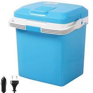 WOLTU KUE001bl Glacière électrique Mini Réfrigérateur 26L isotherme chaud/froid, 12V et 230V pour voiture et camping [Classe énergétique A ++],Bleu de la marque WOLTU image 0 produit