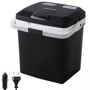 WOLTU KUE002sz Glacière électrique Mini Réfrigérateur 26L isotherme chaud/froid, 12V et 230V pour voiture et camping [Classe énergétique A ++],Noir de la marque WOLTU image 0 produit