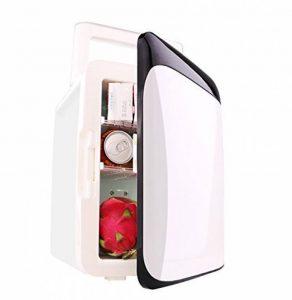 Zodiaca Réfrigérateur de Voiture Réfrigération et Chauffage, Mini-frigo Glacière Électrique Portable 10L 12V/220V pour Voiture et Maison Noir et Blanc de la marque Lizac image 0 produit