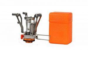 Zoeson Mini r & eacute; réchaud de camping ultra l & eacute; ger pliant pour randonn & eacute; e avec allumage pi & eacute; zo de la marque Zoeson image 0 produit